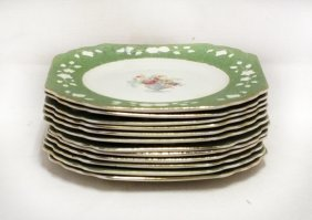 Lot Of 12 Wedgwood Quin's Ivory Plates