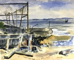 """Gerald Bernstein (1917 - 1999) """"seacoast"""""""