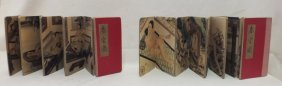 Pair Of Chinese Hand Painted Erotic Books