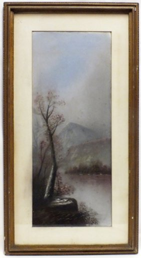 "W.m. Chandler School ""landscape With River"" Pastel"