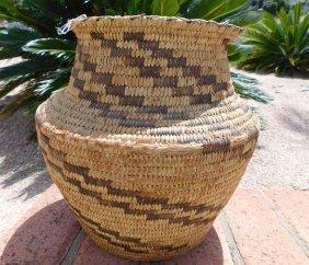 Papago Grain Storage Basketry Olla