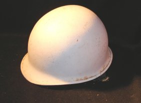 White WW2 MP Or Construction Helmet