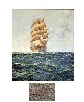 Montague Dawson (British, 1895-1973) Oil On Canvas,