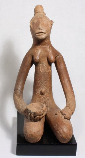 Ceremonial Female Ancestral Figure - Terra Cotta.