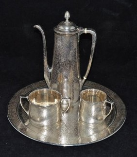 Rare Tiffany & Co. Silver Demitasse Set(1907-37)