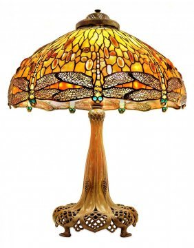 "Important Tiffany "" Dragonfly"" Lamp"