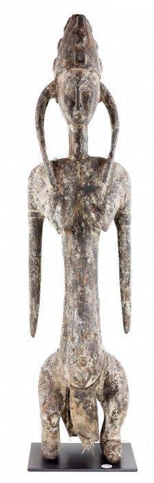 """gwan"" Society Maternity Figure Carved Wood"