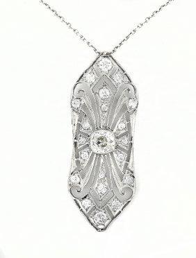 Platinum And Diamond Pendant