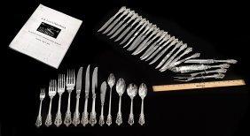251 Piece Grand Baroque Silver Flatware Set