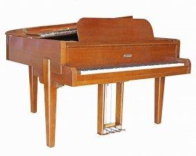 Steinway & Sons Mahogany Baby Grand Piano