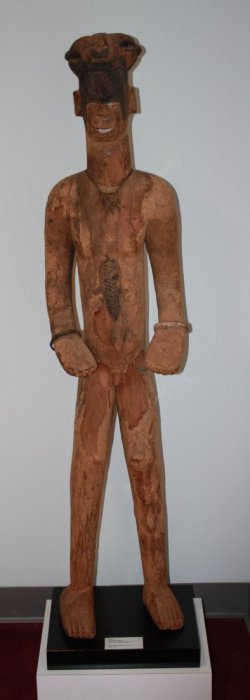 Male Ancestral Guardian Figure,carved Wood