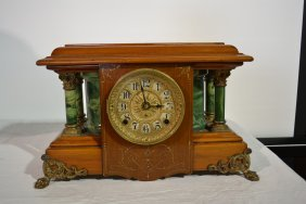 "SETH THOMAS 8-DAY ""SUCILLE"" MANTLE CLOCK WITH"