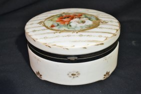 HAND PAINTED SIGNED PAIRPOINT HINGED BOX WITH