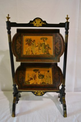 EBONIZED 2-TIER NAPOLEAN III BRONZE MOUNTED