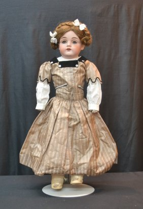 Bisque Shoulder Head Doll With Bisque Hands