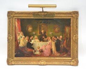Charles Hunt (british, 1803-1877) Oil On Canvas