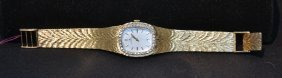 14kt Jaeger Lecoultre Watch Surrounded By