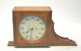 Oak Double Sided Telechron Clock By