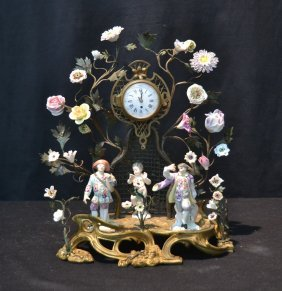 Early 19thc German Foliate Form Clock With