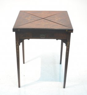 Rosewood Handkerchief Table With Marquetry