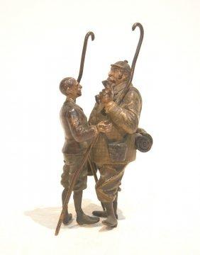 Cold Painted Austrian Bronze Of European Men