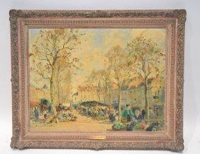 Paul Emil Lecomte (1877-1950) Oil On Canvas
