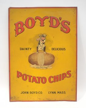 Tin Lithographed Boyd's Potato Chips