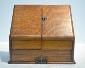 "English Oak Letter Box - 12"" X 6"" X 11"""