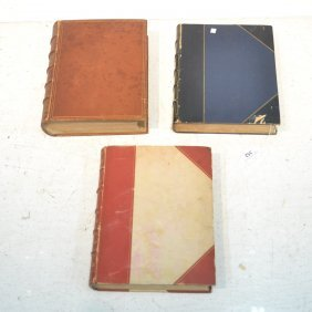(3) Leather Bound Folio Books - Sir Walter