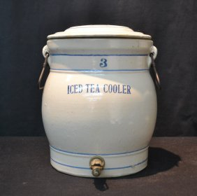 "Ironstone Ice Tea Cooler - 12"" X 13"" (has Crack)"