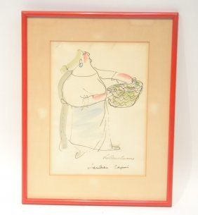 Ludwig Bemelmans (1898-1962) Lithograph Of