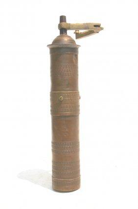 Antique Turkish Brass Coffee Grinder ; With