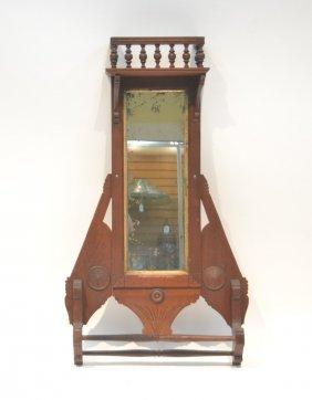 Victorian Eastlake Mirror With Towel Rack