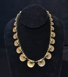 """18kt Gold Italy Graduated Necklace - 17"""" Long"""