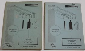 Two Titan III Contractor Training Manuals