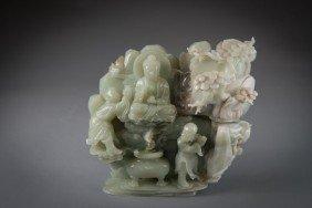 Jade Mountain Buddha With Protector