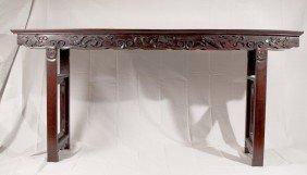 A Rare Large Zitan Altar Table