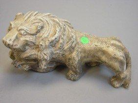 Antique Marble Lion & Deer