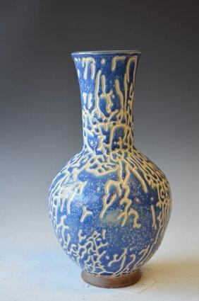 Chinese Blue & White Glazed Vase