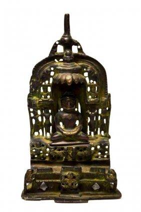 Chinese Cast Iron Seated Buddha