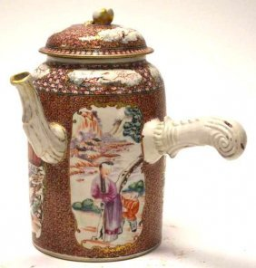 Chinese Export Porcelain Lidded Ewer