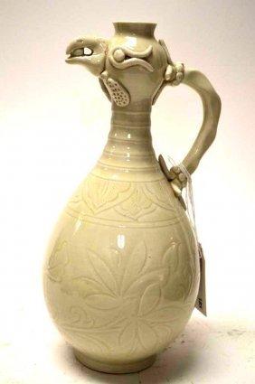 Chinese White Glaze Porcelain Ewer