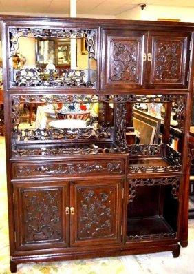 Chinese Hardwood Display Cabinet