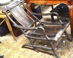 Chinese Hardwood Rocking Chair