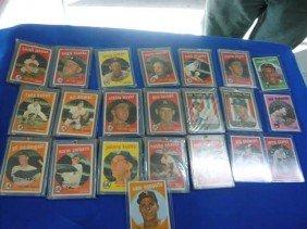 (22)  Baseball 1959: 23, 108, 205, 131, 117, 155,