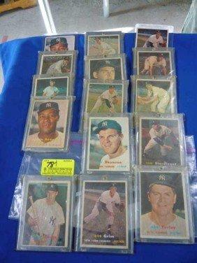 (15) Baseball Cards 1957:  #192, 175, 185, 34, 132,