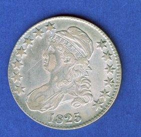 1825 CAPPED BUST HALF DOLLAR .50 CENT XF/AU