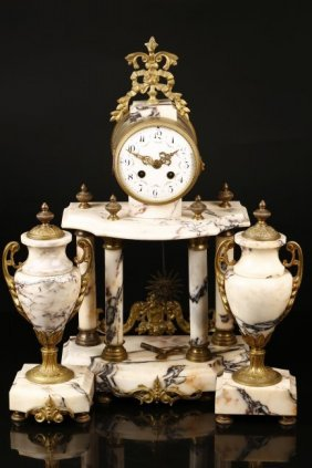 A Western Styled Marble Clock