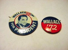 [2] WALLACE CAMPAIGN BUTTONS