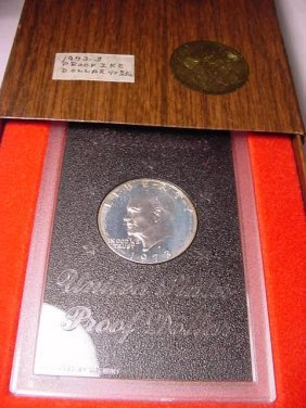 1973 EISENHOWER SILVER DOLLAR GEM PROOF IN ORIG BOX